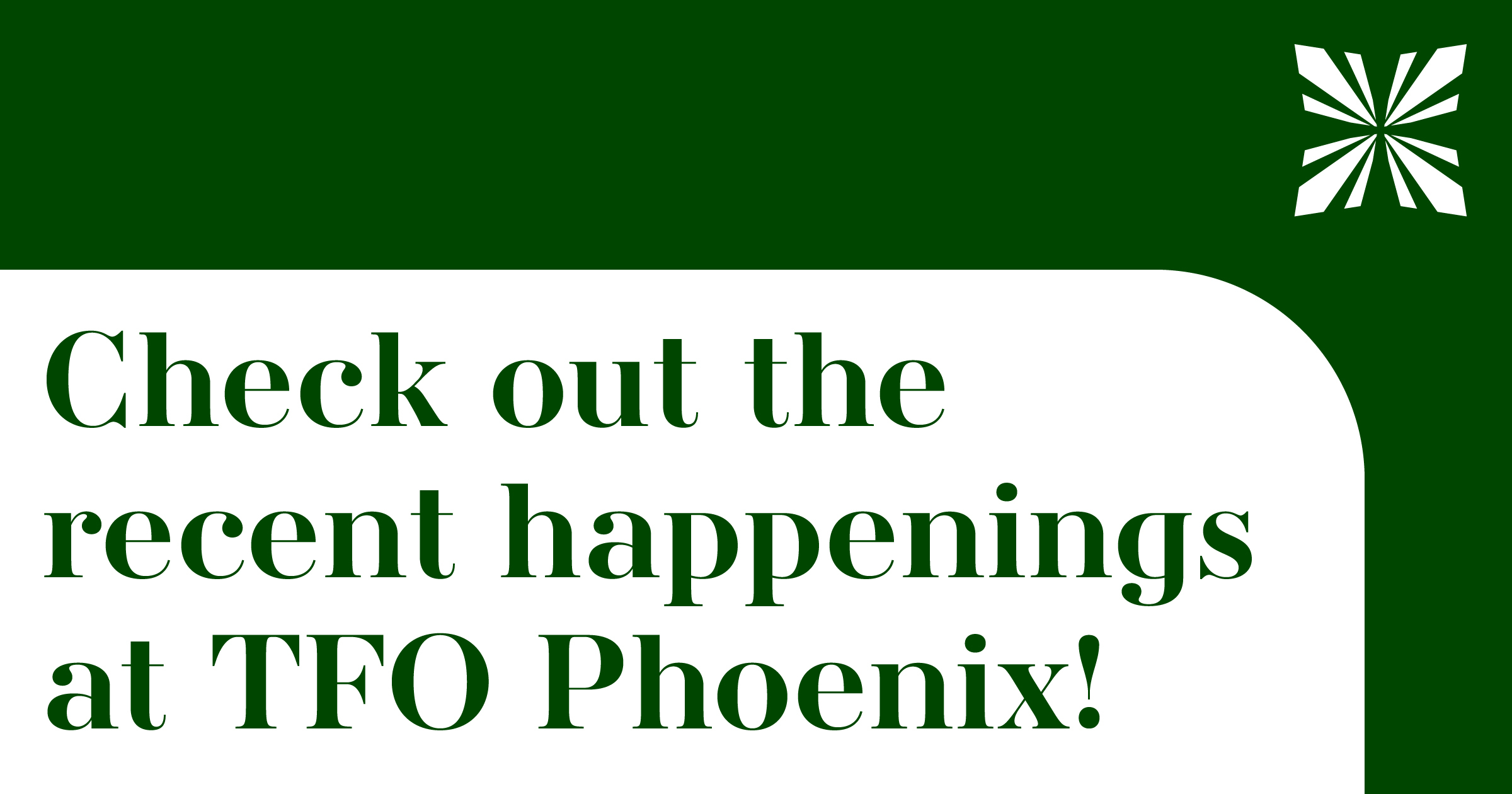 Exciting TFO News!